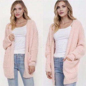 Blush Pink Cardigan Sweater